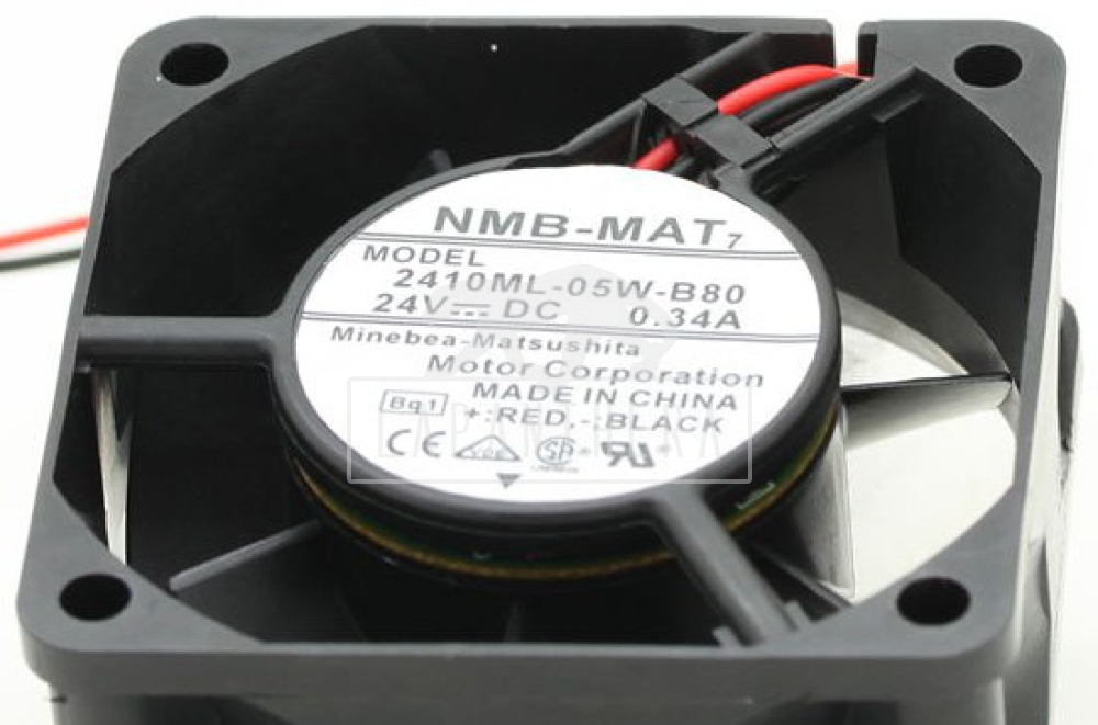 NMB-MAT 2410ML-05W-B80 ~ 60x60x25 mm, 24 VDC